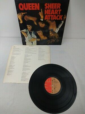 QUEEN Sheer Heart Attack UK 1st Press Vinyl LP EMI 1975 No 'Trident ' • 25£