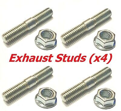 AU18.31 • Buy BZP Exhaust Studs + Flange Nuts (Pack Of 4) - Yamaha XS650