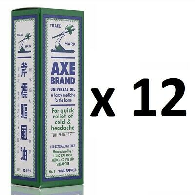 $45.99 • Buy ( Pack Of 12 ) Axe Brand Universal Medicated Oil ~ 10ml ~ 7-14 Days Arrive !!!