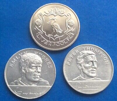Vintage Liverpool  Fc  And  Their Duo Of 1970 England Legends Esso Coins • 6.25£