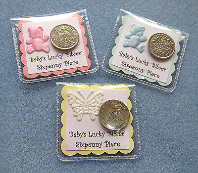 £2.85 • Buy Lucky 'Silver' Sixpence Gift. New Baby*Baby Shower*Christening*Girl*Boy*Neutral