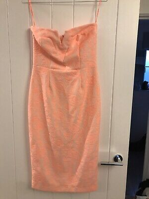 £10 • Buy Coral River Island Strapless Bodycon Dress