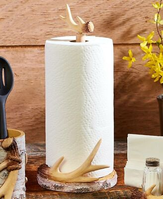 $18.98 • Buy Antler Paper Towel Holder - Farmhouse Style Kitchen And Home Decoration