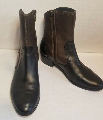 $29 • Buy EVERYBODY By BZ Moda Ankle Boots Black & Brown Leather Ankle Boots Sz 39.5 61796