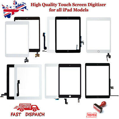 For IPad 2/3/4/5/6 & Air Mini 1 2 OEM Genuine Digitizer Touch Screen Replacement • 12.23£