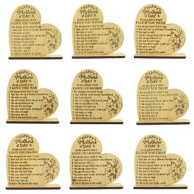 Happy Mother's Day Gift 10 Reasons Why I Love You Engraved Mum Mummy Gifts Nan • 4.99£