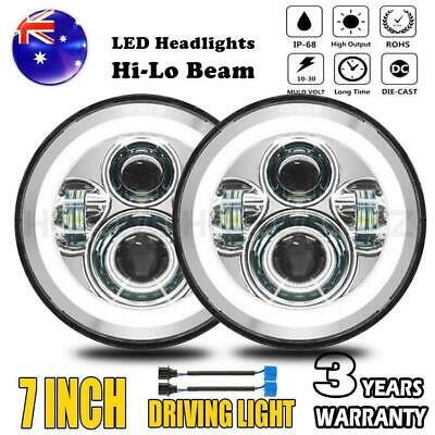 AU77.45 • Buy Pair 7Inch Round LED Headlight Plating For Toyota Landcruiser HZJ75 75 78 79 JTX
