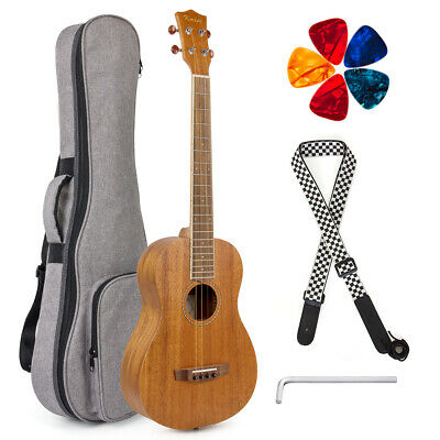 AU86.24 • Buy Kmise Tenor Guitar  Mahogany 31 Inch Baritone With Gig Bag Strap Picks