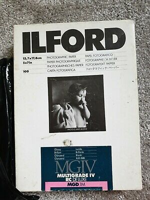 Ilford Multigrade IV Rc Deluxe 5x7in Glossy Photo Paper 80 Sheets • 25£