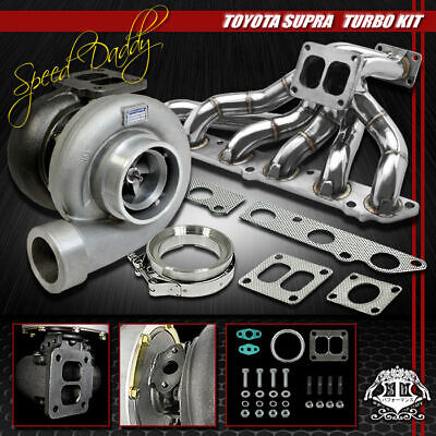 $ CDN582.99 • Buy Gt45 Turbocharger+stainless Turbo Manifold Exhaust For 86-92 Toyota Supra 7m-gte