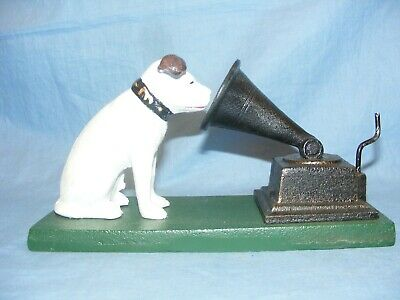 HMV Nipper Dog With Gramophone Cast Iron Advertising NEW • 24.95£