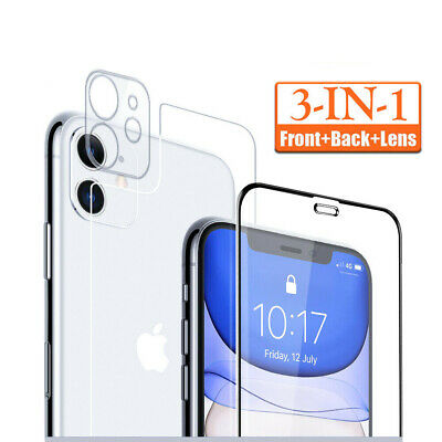 AU2.56 • Buy For IPhone 12 11 SE X Full Cover Tempered Glass Screen Protector Lens+Front+Back