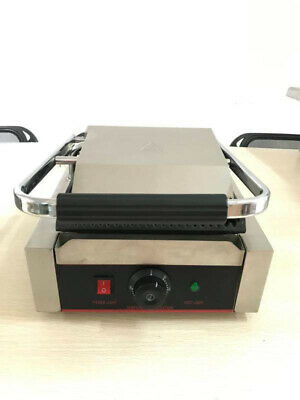 2KW Single Commercial Panini Machine Contact Grill Toaster Sandwich Maker 11/28 • 137.99£
