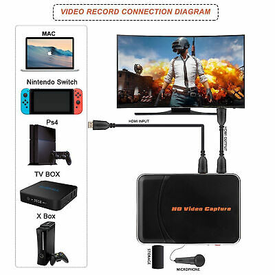 £36.39 • Buy HDMI Video Game Capture Card 1080P HD Recorder Save To USB Disk For PS4 Xbox Wii