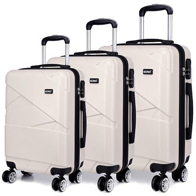 Hard Shell Travel Luggage Trolley Lightweight Case Suitcase 20''24''28'' Set  • 37.95£