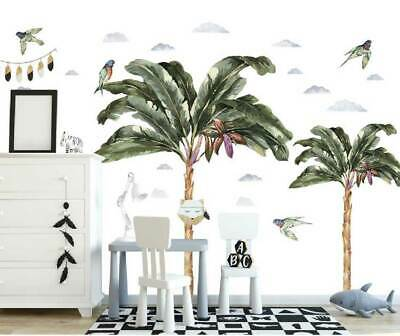 Vintage Jungle Tree Kids Art Wall Stickers Baby Room Cot Nursery Decal Decor • 17.04£