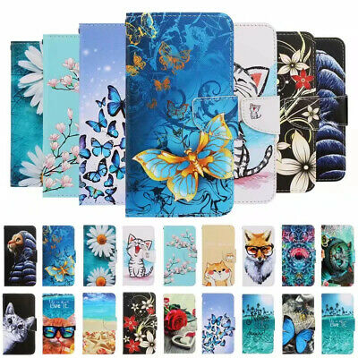 AU2.41 • Buy For Apple Iphone 11 XR 8 7 6 Painted Leather Wallet Flip Card Stand Case Cover