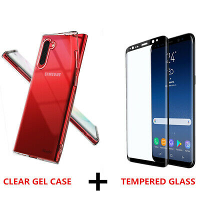 $ CDN4.48 • Buy For Samsung Galaxy S20 Note 10+ TPU Case Cover & Tempered Glass Screen Protector