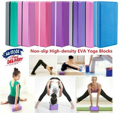AU29.04 • Buy Yoga Block Fitness Foam Brick Home Exercise Practice Gym Sport Tool Colorful AU