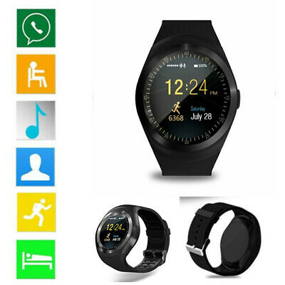 Waterproof Bluetooth Smart Watch Phone Mate For IOS IPhone Android Samsung LG Y1 • 11.79£