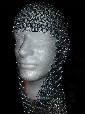 Knights Steel Chainmail 10mm Butted Chain Mail Coif Armor Hood For Hauberk  • 40£