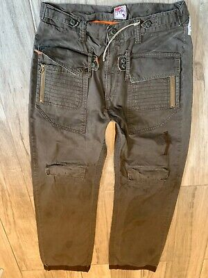 PRPS   Men Light COMBAT Jeans Chinos Size In Photos 100% Authentic Ultra Rare • 65£