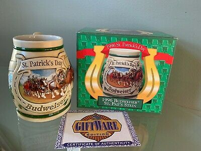 $ CDN18.67 • Buy Budweiser 1996 St. Patrick's Day Stein NEW OLD STOCK IN BOX CS269