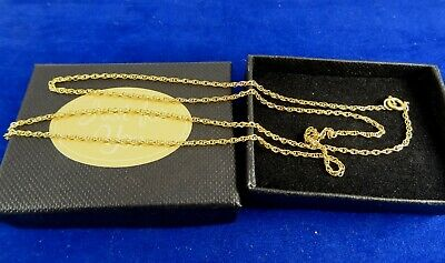 Ladies Girls Boys 20  Fine 9ct Gold Trace Chain Necklace 1.5gr 1mm 53d • 49£