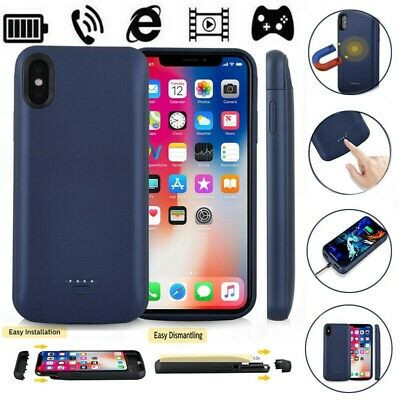 IPhone 6 7 8 Plus XR Xs Max X Magnetic Battery Charger Charging Case 5000mAh • 10.80£