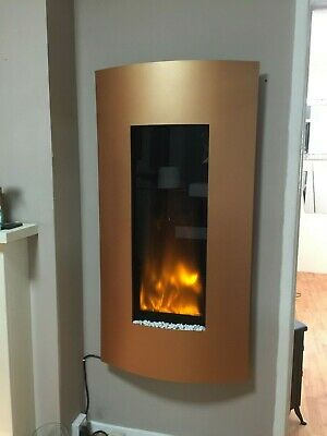 Gazco Studio 22 With Verve Frame In Bronze Electric Hang On The Wall Fire • 599£