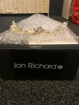 Womens Jon Richard Bridal Tiara Pearl Detail Brand New Never Used Comes Boxed • 25£