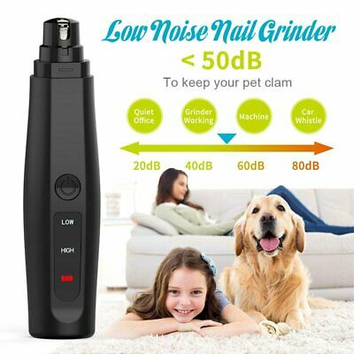 Professional Rechargeable Pet Dog Cat Claw Painless Nail Grinder Trimmer Clipper • 16.89£