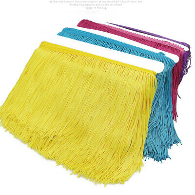 £4.99 • Buy 3 Yard Chainette Long Tassel Fringe Trimming Dance Stage Costume Sewing DIY 15cm