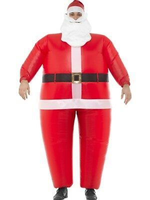 Inflatable Santa Claus Costume Outfit Adult Mens Father Christmas Fancy Dress • 20.12£
