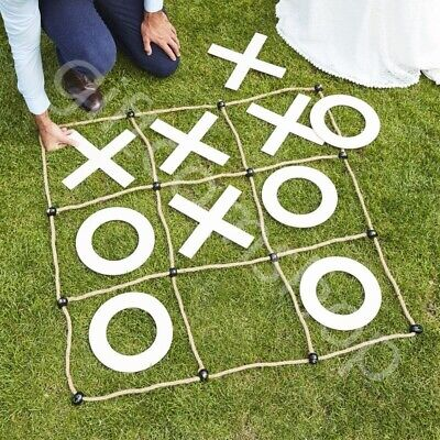 Giant Wooden Noughts And Crosses Game Wedding Garden Fun Party Games Decorations • 22.80£