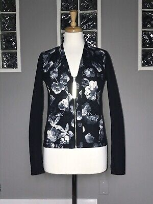 $ CDN70.40 • Buy Lululemon Cardigan & Again 4 Inky Floral Black Ghost Prima Loft Jacket
