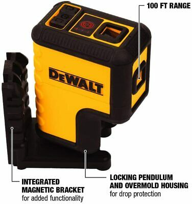 $93.75 • Buy DW08302 Dewalt Red 3 Spot Laser Level