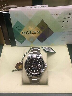 $ CDN11619.13 • Buy Rolex Submariner 16610 Black Dial Stainless Steel Box Papers 2006