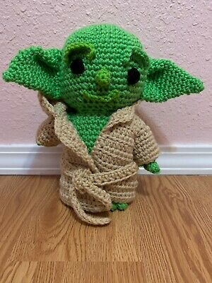 $35 • Buy 10 In Baby Yoda Doll Crochet The Child Mandalorian W/ Brown Removable Robe!
