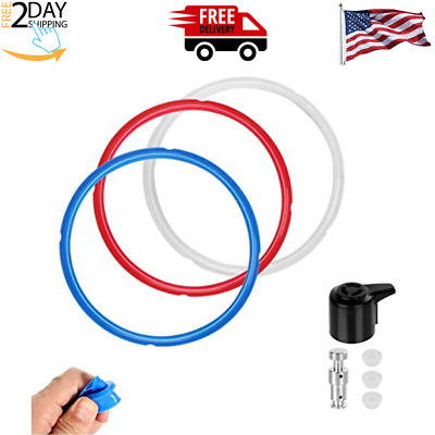 $21.40 • Buy Sealing Ring For Instant Pot Duo 5, 6 Quart Silicone Gasket Seal Ring (3 Pack)