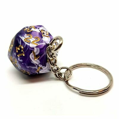 Purple Marble D30 Dice Keyring Novelty Polyhedral Gift Dungeons And Dragons • 6.99£