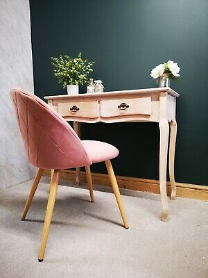 Desk And Chair Set - French Style Home Office Workspace Pink Chair Study Laptop • 199.99£