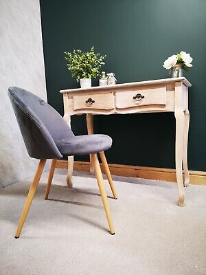£180.84 • Buy Home Office Desk & Grey Chair Set - Shabby Chic Home Office Wood Workstation PC