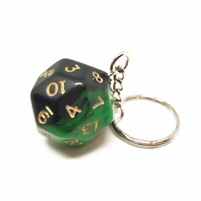 Green Oblivion D30 Dice Keyring Novelty Polyhedral Gift Dungeons And Dragons • 6.99£
