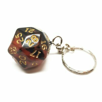 Red Oblivion D30 Dice Keyring Novelty Polyhedral Gift Dungeons And Dragons • 6.99£