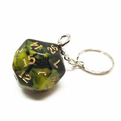Yellow Oblivion D30 Dice Keyring Novelty Polyhedral Gift Dungeons And Dragons • 6.99£