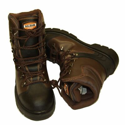 Chainsaw Safety Boots Solidur Forestry Arborist Size 6.5 Euro 40 Class 1 • 61.49£