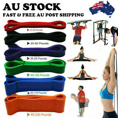 AU48.99 • Buy Strength Band Power Resistance Rubber Band Chin Up Pull Up Training Exercise Gym