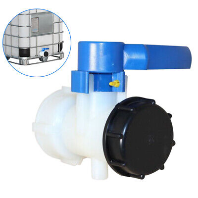 Tank Adapter S60x6 Coarse Thread Drain Container Rainwater Tap Valve For IBC . • 11.19£