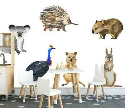Australia OZ Animals Kids Wall Stickers Baby Room Cot Nursery Decal Decor Art • 16.66£